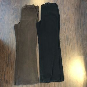 Christopher and banks pants stretch 2 pair size 12